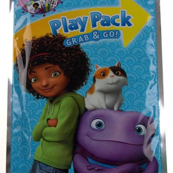 Lot 8 DreamWorks Home Play Packs Grab & Go Coloring Book Crayons Stickers Favors