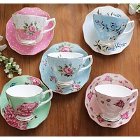 Porcelain Tea Cup and Saucer Set