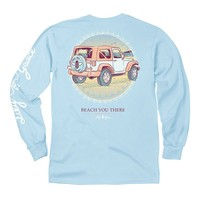 Beach You There Long Sleeve Tee in Chambray by Lily Grace