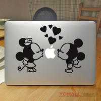 """Falling in love Mickey Minnie Mouse Laptop Sticker for Apple Macbook Pro Air Retina 11"""" 13"""" 15"""" Mac Notebook Cover Decal Sticker"""