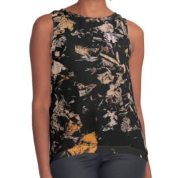 'Leafs at Night pattern' Contrast Tank by cool-shirts
