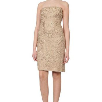Sue Wong Short Strapless Cocktail Dress