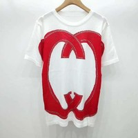 Gucci Double G thin ice silk sweater print T-Shirt Top Tee