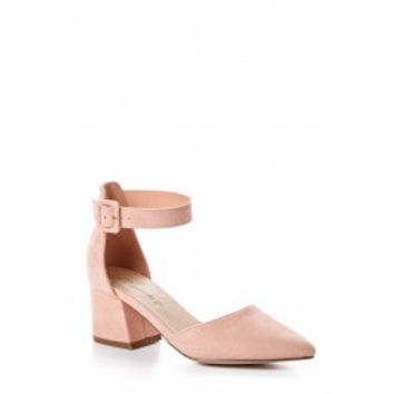 Like My Style Blush Pink Ankle Strap Heels