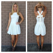 White Cross Bow Back Dress