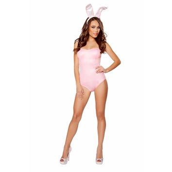 Roma Costume Adult Women Halloween Party Outfit 2 Piece Playful Bunny Pink - Medium