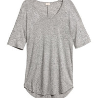 Linen-blend Top - from H&M
