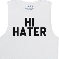 Hi and Bye Hater-Female Snow T-Shirt