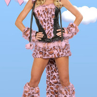 Breast Cancer Awareness Pink Leopard Costume