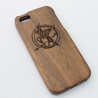 Wood iPhone 5 Case Wooden iPhone 5s Case - Hunger Games iPhone 5 Case