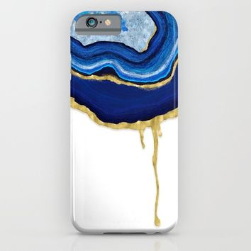 Blue Dripping Agate iPhone & iPod Case by Noonday Design
