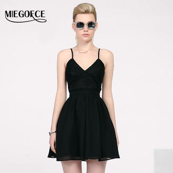 MIEGOFCE 2016 New arrival summer women dresses European style spaghetti strap sundress high quality evening party dress hot sell