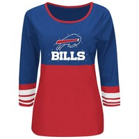 Majestic Buffalo Bills Roster Rush Fashion Top - Women's, Size: