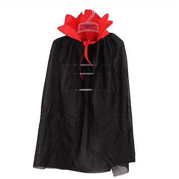Kids Vampire Witch Devil Cloak Stand Collar Cape Boys Girls Cosplay Costume Halloween