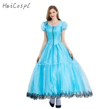 Alice in Wonderland Costumes Alice Cosplay Dress Princess Quess Female Blue Sexy Dresses Party Dancing Wear Elegant Women Fancy