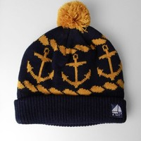 Chick&Stylish - Neff Ahoy Pom Beanie Navy, One Size
