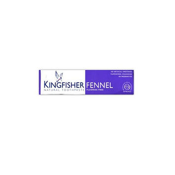 Kingfisher Fluoride Free Fennel Toothpaste 100ml Regular brushing with Kingfisher natural toothpaste will help clean your teeth and aid the removal of plaque