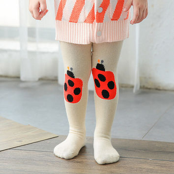 2 Pcs Pack Newborn Baby Pantyhose Infants Cartoon Unisex Children's Tights Toddler Kids Pantyhose Girls and Boys Stockings