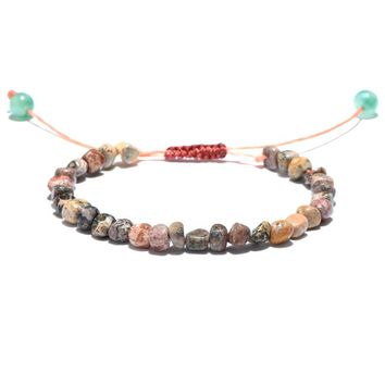 adjustable Chakra Bracelets Women Jewelry Natural Stone Beads Handmade Meditation Healing