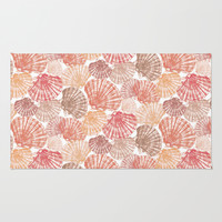 Mid Shells: Pink corals Rug by Eileen Paulino