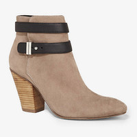 ANKLE STRAP HEELED BOOTIE from EXPRESS
