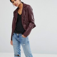 Oasis | Oasis Leather Look Biker at ASOS