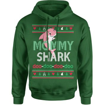 Mommy Shark Challenge Ugly Christmas Adult Hoodie Sweatshirt
