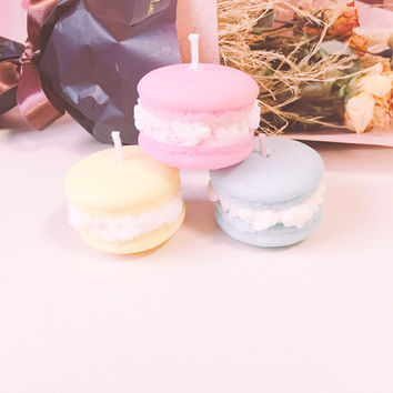 Francedesertmacaroncandle set (France dessert macaroon candles)