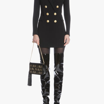 Tailored double-breasted dress | Women's jersey dresses | Balmain
