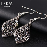 17KM 2016 Brand New Big Vintage Water Drop Earrings for Women Kendra Hollow Out Trendy Bohemian female Brincos Boho Earrings