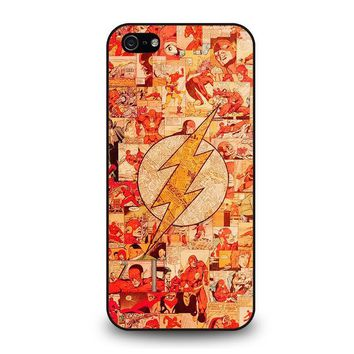the flash collage iphone 5 5s se case cover  number 1