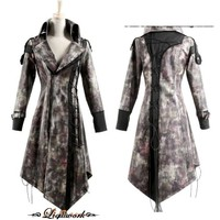 Vintage Goth Gothic Vampire Emo Style Leather Coats Men Women SKU-11401138