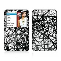 The Black and White Shards Skin For The Apple iPod Classic