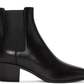Black Leather Rock Boots