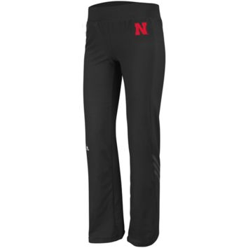 adidas Nebraska Cornhuskers Ladies Training Pants - Black