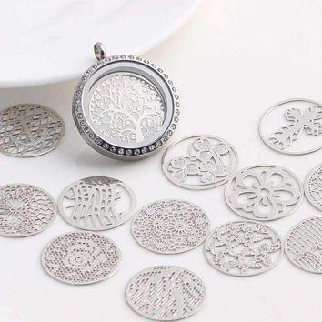 ON SALE - Round Cut Out Plate for Round Charm Locket Necklaces ~Choose Your Theme!