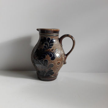 French vintage pitcher in stoneware