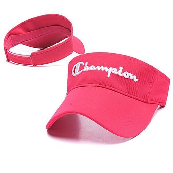 Champion Popular Women Men Embroidery Sports Sun Hat Baseball Cap Hat Rose Red