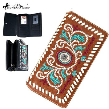 Montana West Embroidered Wallet