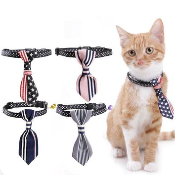 Cute Nylon Cat Collars With Tie And bells