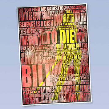 Kill Bill art print (420mm x 297mm)