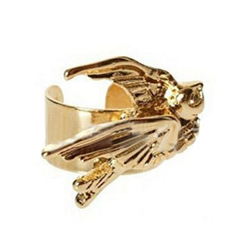 Gold Swallow Ear Cuff