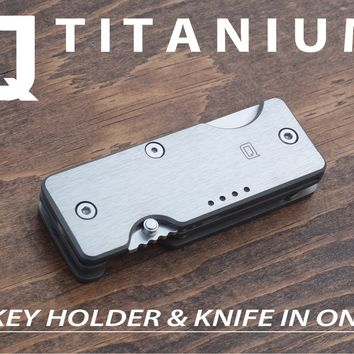Titanium Mini Q - A Key Organizer & Knife for Everyday Carry