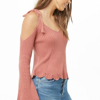 Open-Shoulder Bell-Sleeve Top