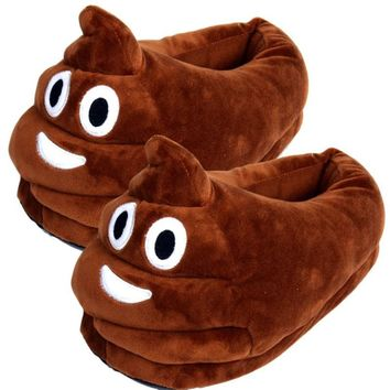 HENGSONG Funny Women Men Plush Slippers Indoor Shoes House Cute Women Slippers Emoji Shoes Warm Home Shoes Slippers RD986083