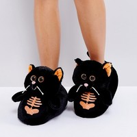 Loungeable Scary Cat Slipper at asos.com