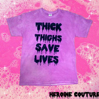 Customizable Thick Thighs Save Lives T-shirt or Tank Top