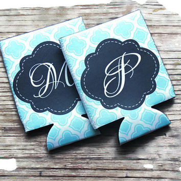 personalized koozies, monogrammed koozie, party koozies, wedding party favor, bachelorette party koozies, bachelorette party favor, party