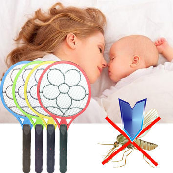220V Fly Mosquito Zapper Swatter Killer Electric Insect Pest Bug Fly Mosquito Zapper Swatter Killer Racket