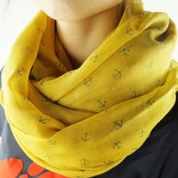 Sea Anchor Print Scarf